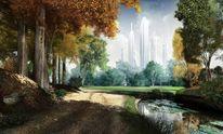 Fiktion, Vbisualimpression, Landschaft, Schöne zukunft