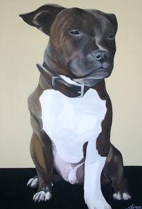 Leinen, Acrylmalerei, Hund, Tiere
