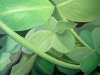 Ölmalerei, Natur, Klee, Makro