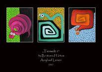 Wurm, Acrylmalerei, Schnecke, Abstrakt