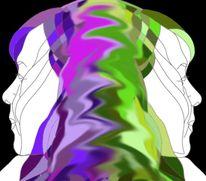 Figur, Grafik, Zwillinge, Farben