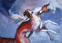 Jagdhunde, Rot, Gemälde, Jagd