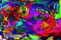 Abstrakt, Gegenstandslos, Rot, Satte farben
