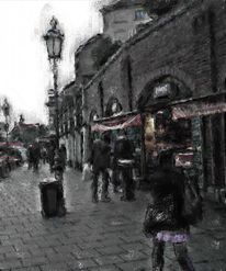 München, Viktualienmarkt, Lumière noir, Digitale kunst