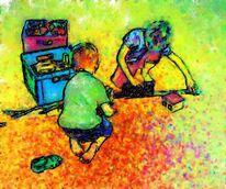 Kinder, Spielzeug, Spiel, Digitale kunst