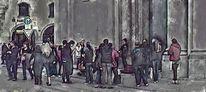 Lumière noir, Straßenmusikanten, München, Digitale kunst