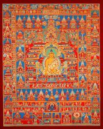 Thangka, Mahabodhi tempel, Galerie schneeloewe, Buddha shakyamuni