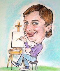 Cartoon, Veranstaltung, Messe, Schnellzeichner