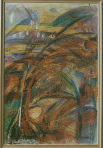 Olivenöl, Farbenfreude, Farben, Gestische malerei