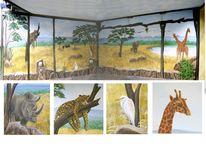 Wandmalerei, Illusionsmalerei, Afrika, Malerei