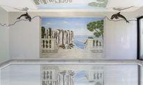 L oeil, Schwimmhallengestaltung, Acrylmalerei, Wandmalerei