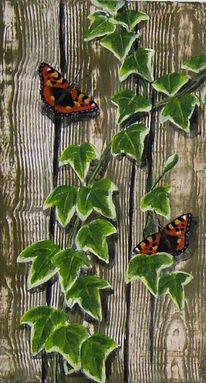 Schmetterling, Efeu, Malerei