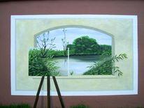 Wandmalerei, Malerei