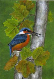 Vogel eisvogel, Malerei, Tiere, Eisvogel