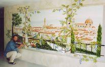 Wandmalerei, Illusionsmalerei, Florenz, Toskana