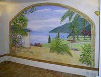 Illusionsmalerei, Wandmalerei, Tessin, Lago maggiore