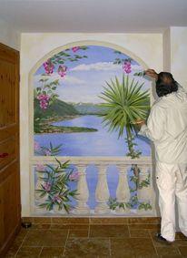 Wandmalerei, Illusionsmalerei, Malerei, Lago