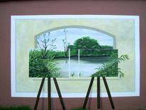 Wandmalerei, Magritte, Malerei
