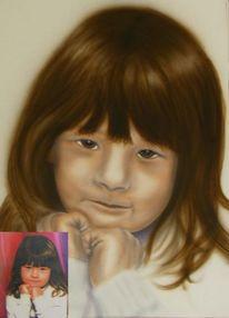 Portrait, Malerei, Tochter