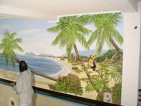Wandmalerei, Illusionsmalerei, Karibik, Südsee