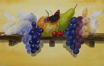 Schmetterling, Admiral, Obst, Malerei