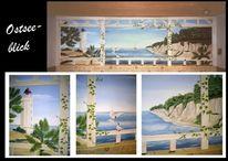 Wandmalerei, Ostsee, Illusionsmalerei, Malerei