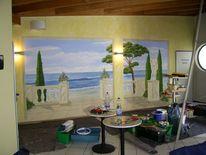 Toskana, Meerblick, Illusionsmalerei, Wandmalerei