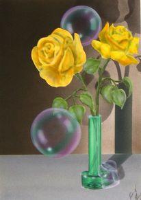 Seifenblasen, Rose, Malerei