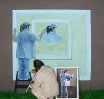 Wandmalerei, Illusionsmalerei, Malerei, Staffelei