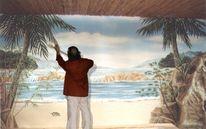 Strand, Wandmalerei, Illusionsmalerei, Kunstfelsen