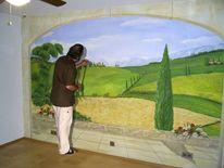 Wandmalerei, Toskana, Illusionsmalerei, Malerei