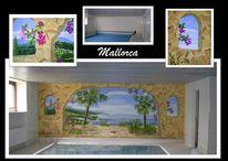 Illusionsmalerei, Wandmalerei, Mallorca, Malerei