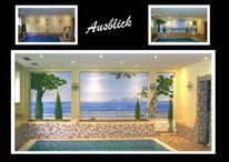 Wandmalerei, Illusionsmalerei, Toskana, Malerei