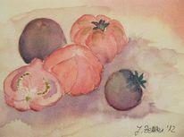 Stillleben, Tomate, Aquarell