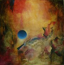 Folientechnik, Farben, Abstrakt, Malerei