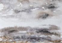 Abstrakt, Monochrom, Landschaft, Aquarell