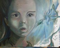 Mädchen, Elfen, Fee, Malerei