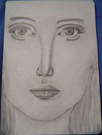 Frau gesicht, Zeichnungen, Menschen, Blick