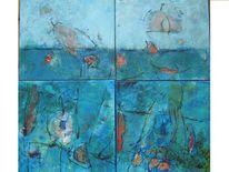 Türkis, Abstrakt, Blau, Früchte