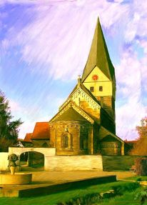Bau, Landschaft, Fandau, Kirche