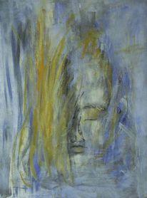 Blau, Acrylmalerei, Frau, Malerei