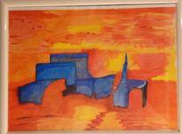 Landschaft, Wanderung, Malerei