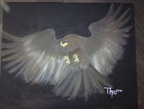 Acrylmalerei, Tiere, Vogel, Malerei