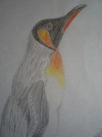 Buntstiftzeichnung, Leben, Farben, Vogel