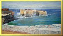 Natur, Ölmalerei, Landschaft, Berge