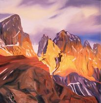 Bramsche, Berge, Ölmalerei, Landschaft