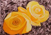 Ölmalerei, Rose, Malerei, Stillleben