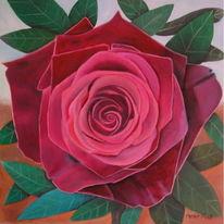 Ölmalerei, Malerei, Bramsche, Bakkararose