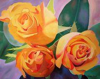 Malerei, Bramsche, Rose, Stillleben