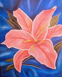 Peter post bramsche, Strukturpaste, Blumen, Malerei